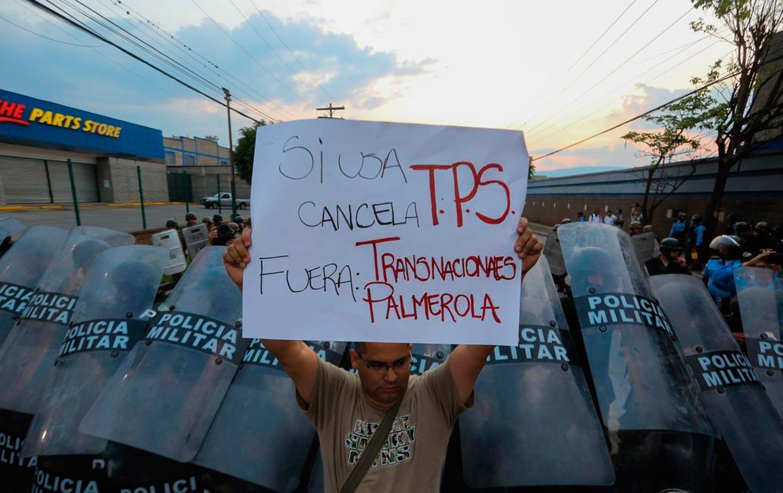 Honduran TPS protester