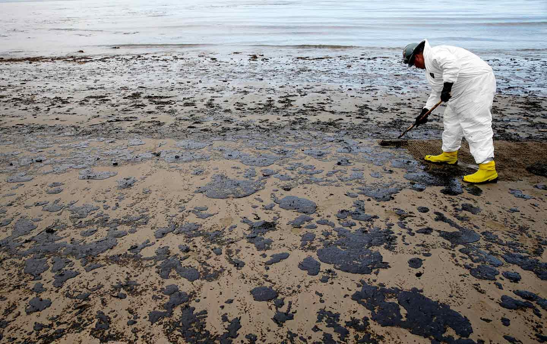 Oil spill in California
