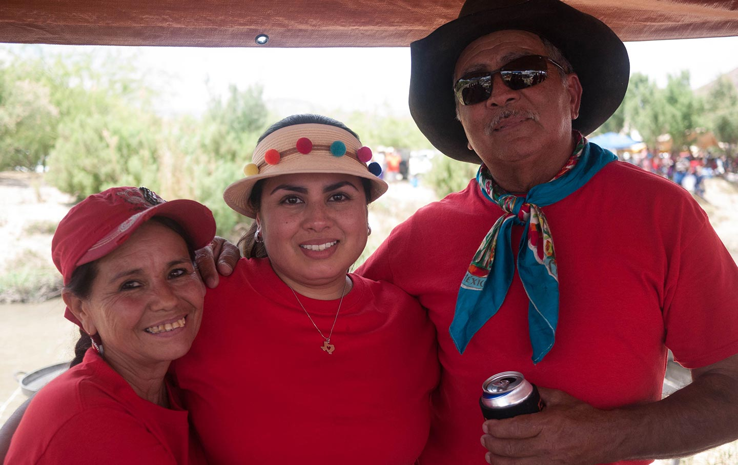 Zulma Carrasco and parents