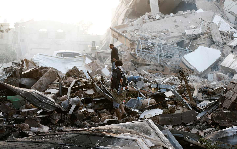 Yemen Saudi air strike Sanaa