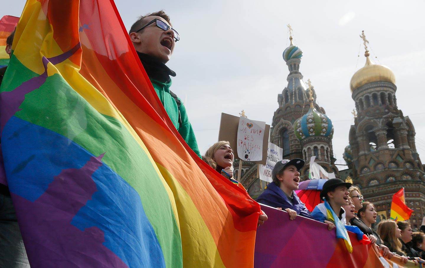 Gay Protestors in Russia