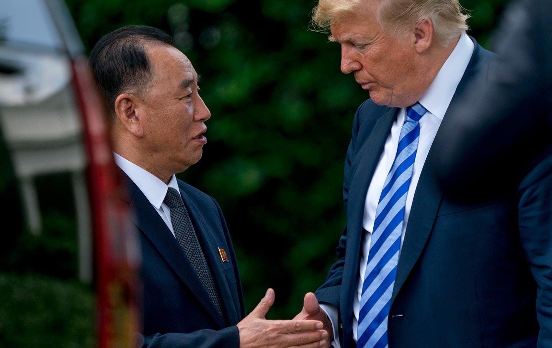 Kim Yong-chol meets Trump