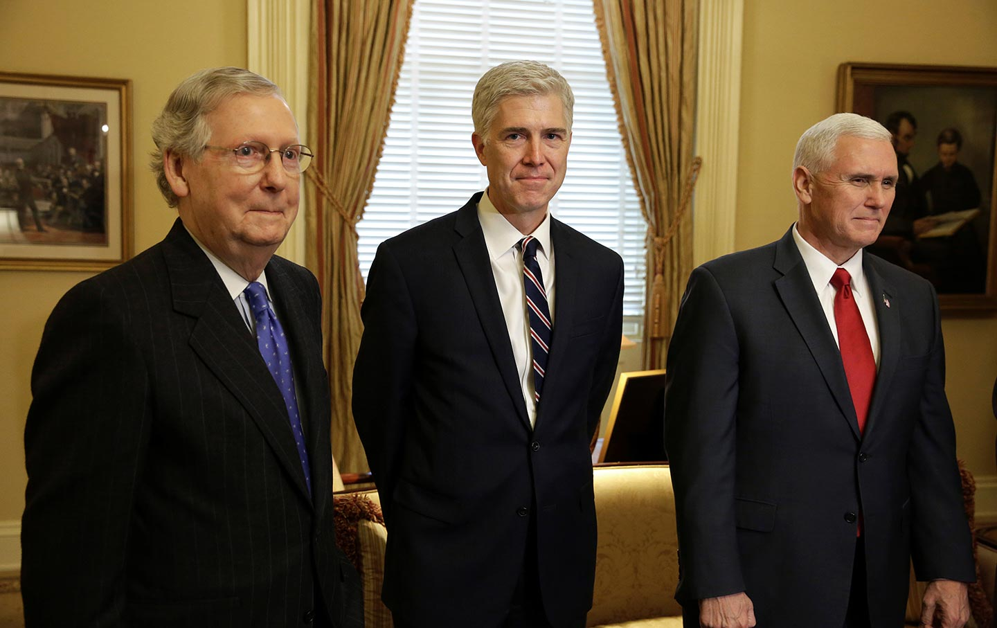 McConnell, Gorsuch, Pence