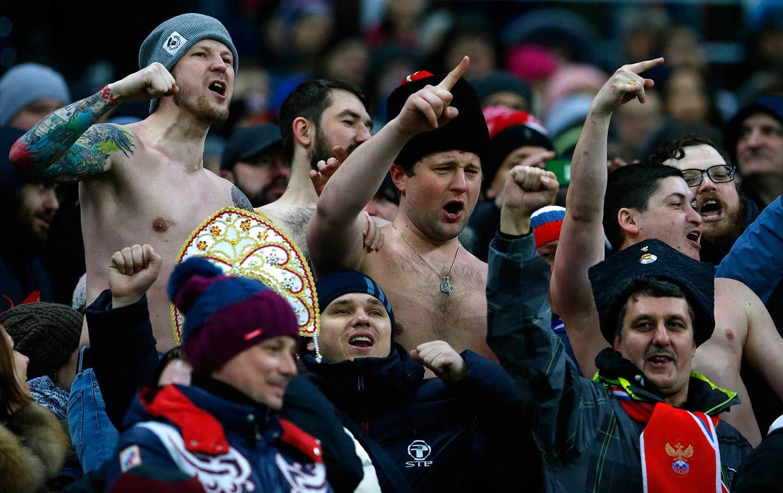 Russia soccer fans