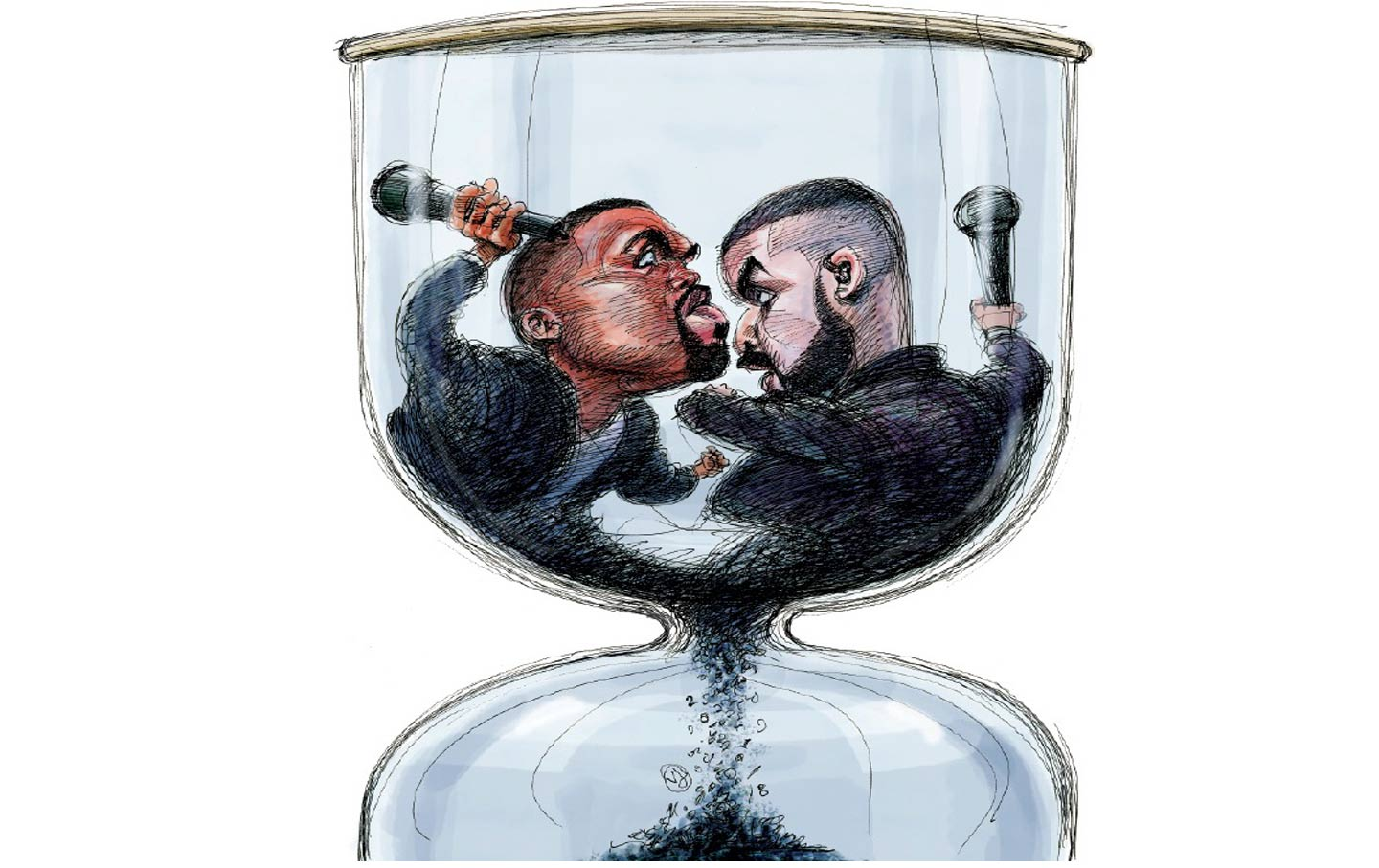 The Rise And Fall Of Kanye Drake Nation Designed By John Broskie Made In Usa Illustration Victor Juhasz