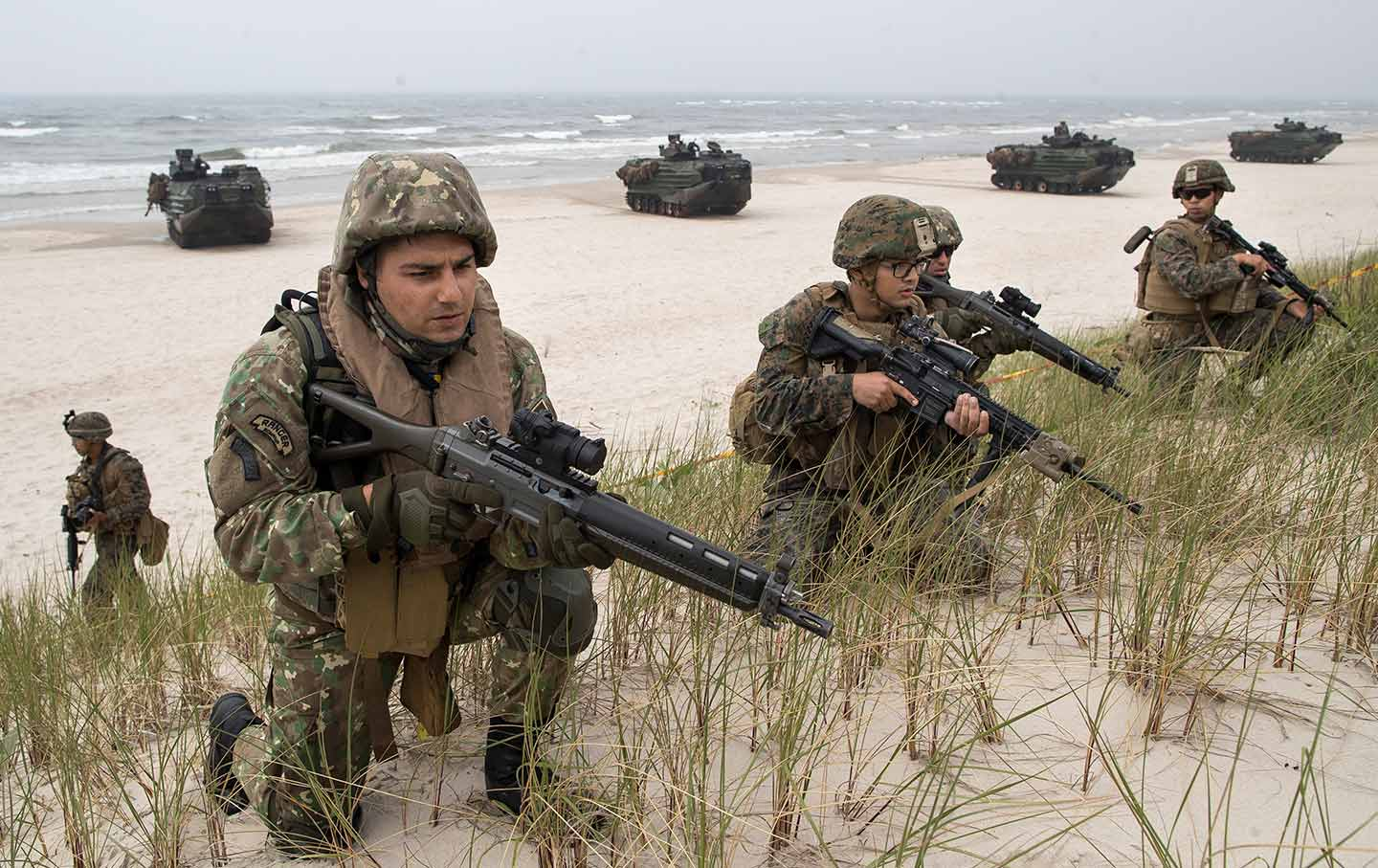 Marines at a NATO Exercise in Lithuania