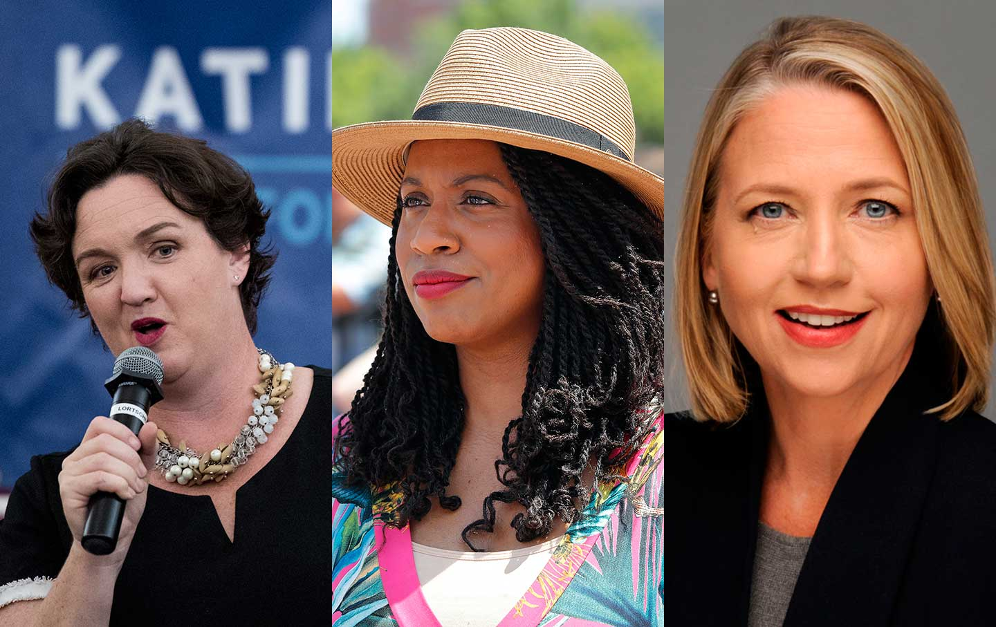 Katie Porter, Ayanna Pressley, and Mary Barzee Flores.