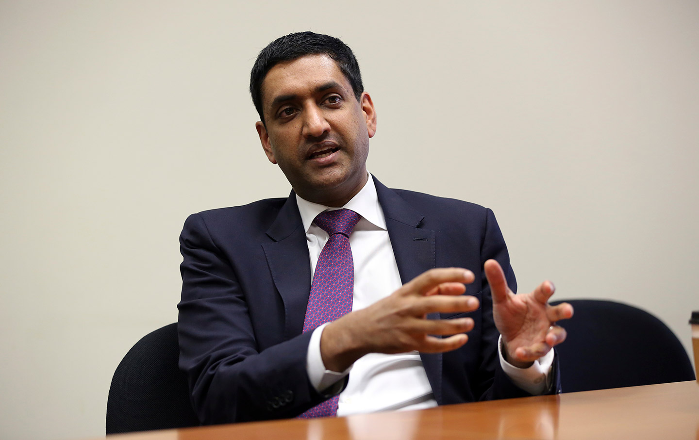 Ro Khanna during an interview