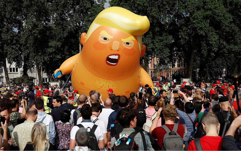 Trump blimp in London