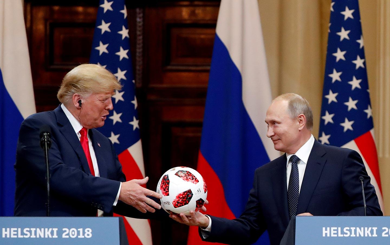 Trump and Putin Football
