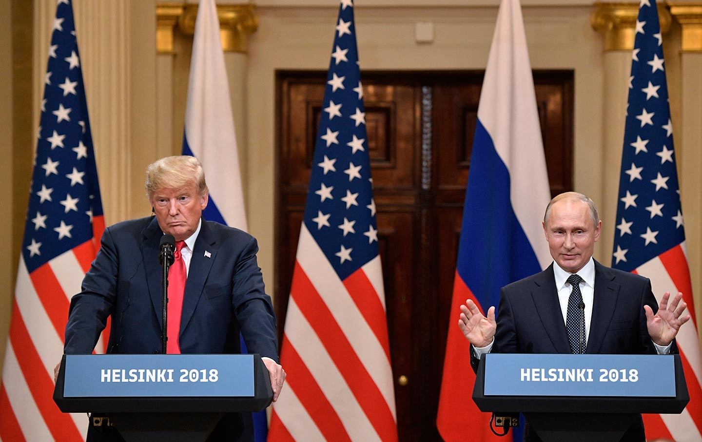 Trump and Putin at Helsinki Summit