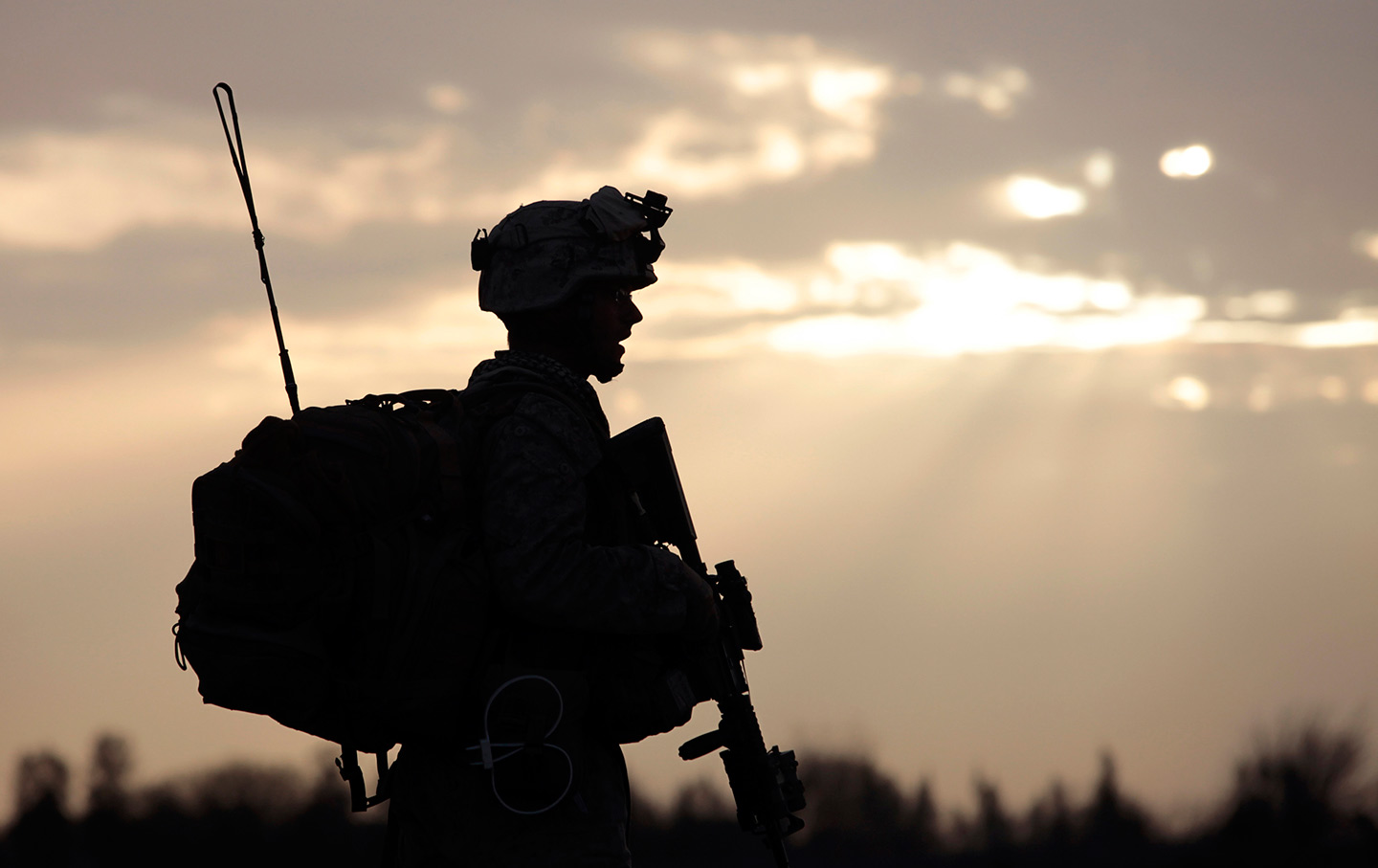 Afghanistan Soldier Sunset