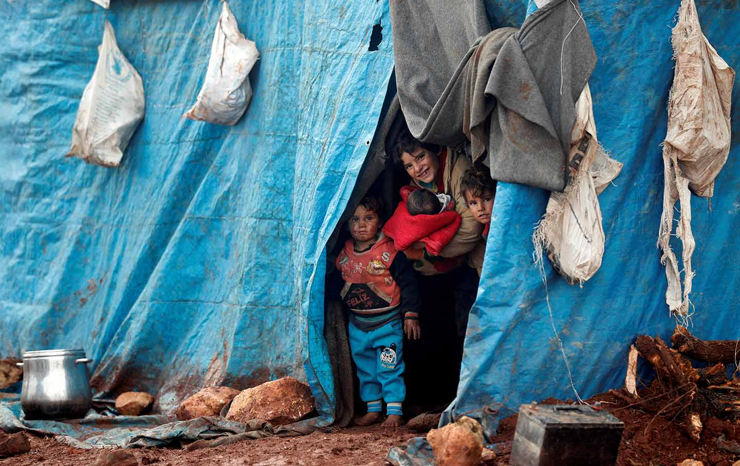 Idlib Syrian Refugee Children