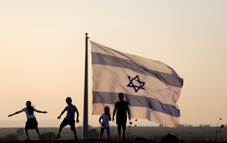 Israeli Flag Silhouettes