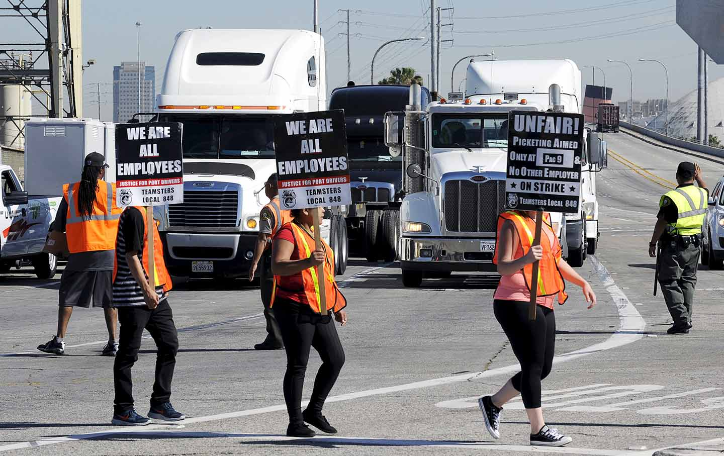 Port Truck Drivers Strike California