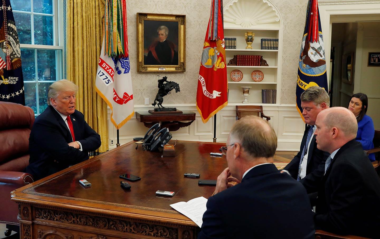 Trump Talks to Journalists