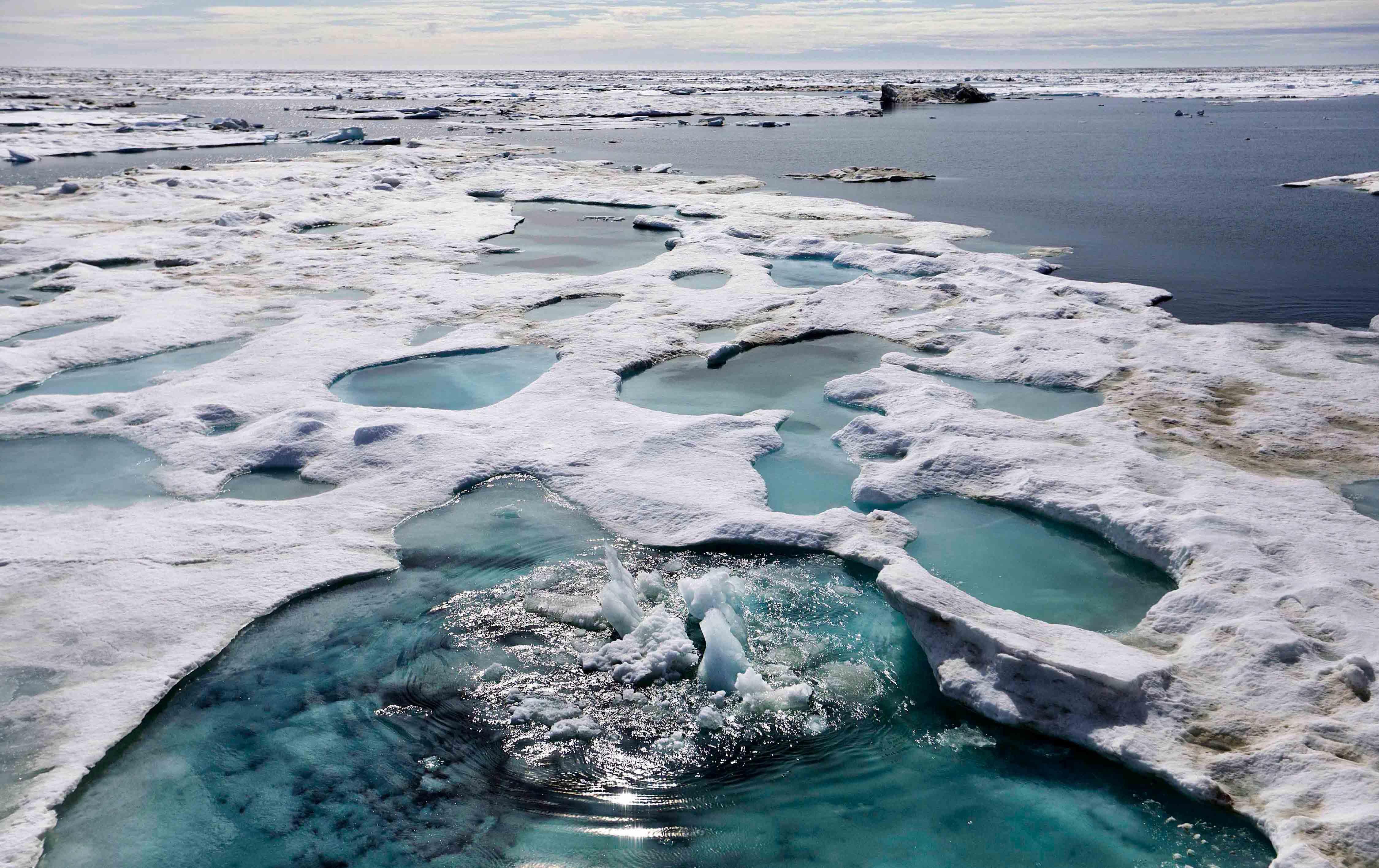 Broken Ice Caps in Alaska