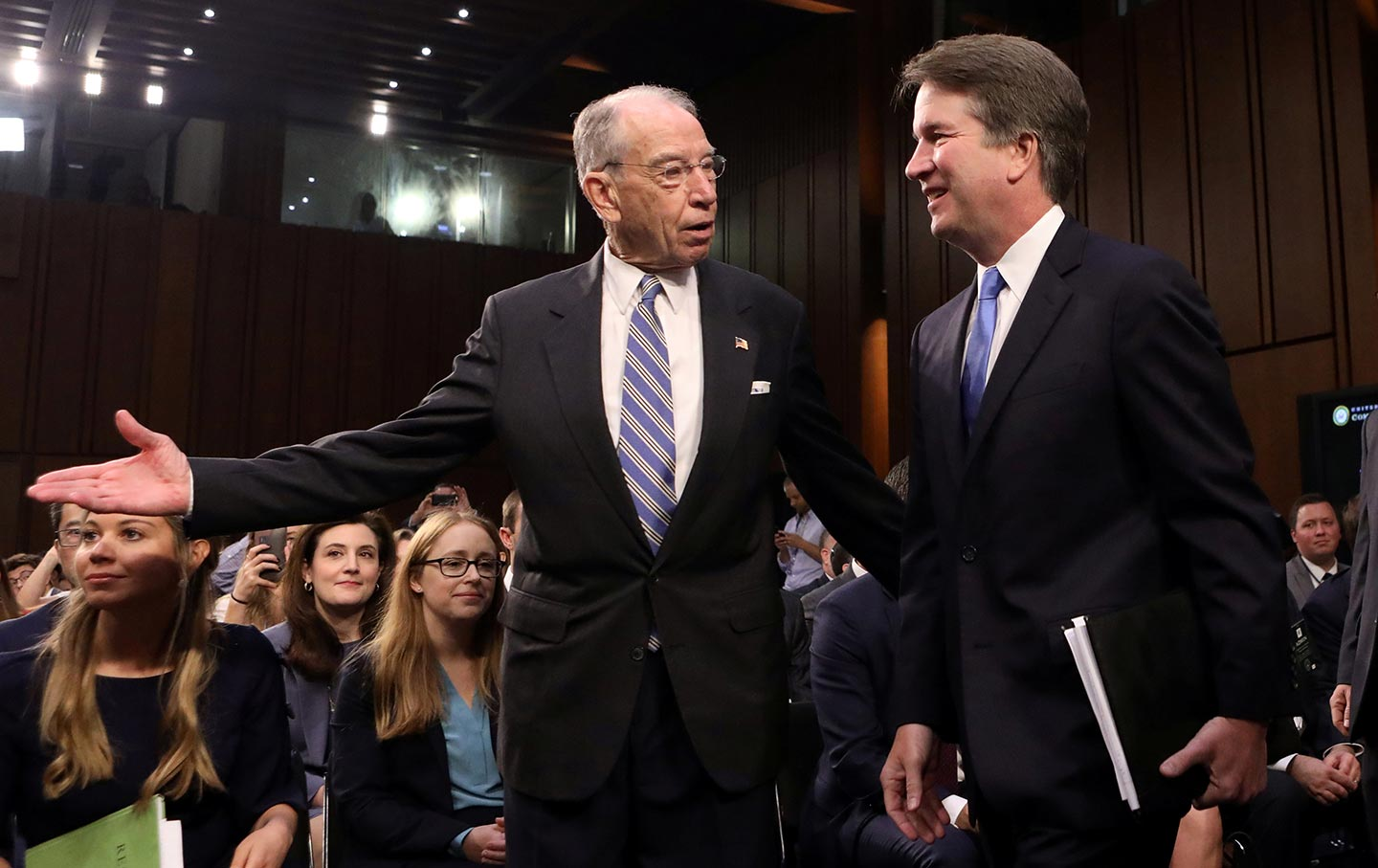 Chuck Grassley and Brett Kavanaugh