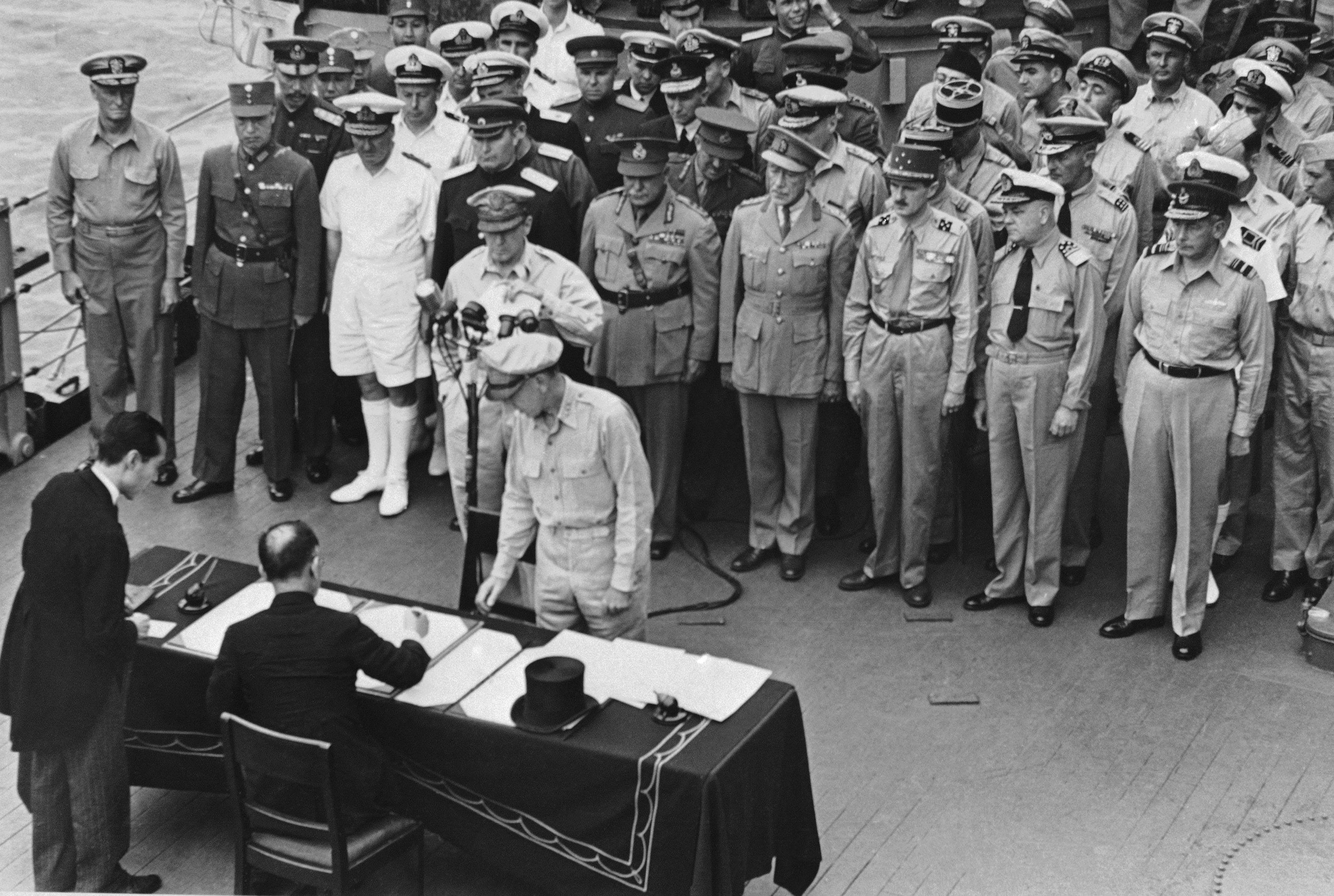 Japan Signing Surrender WWII