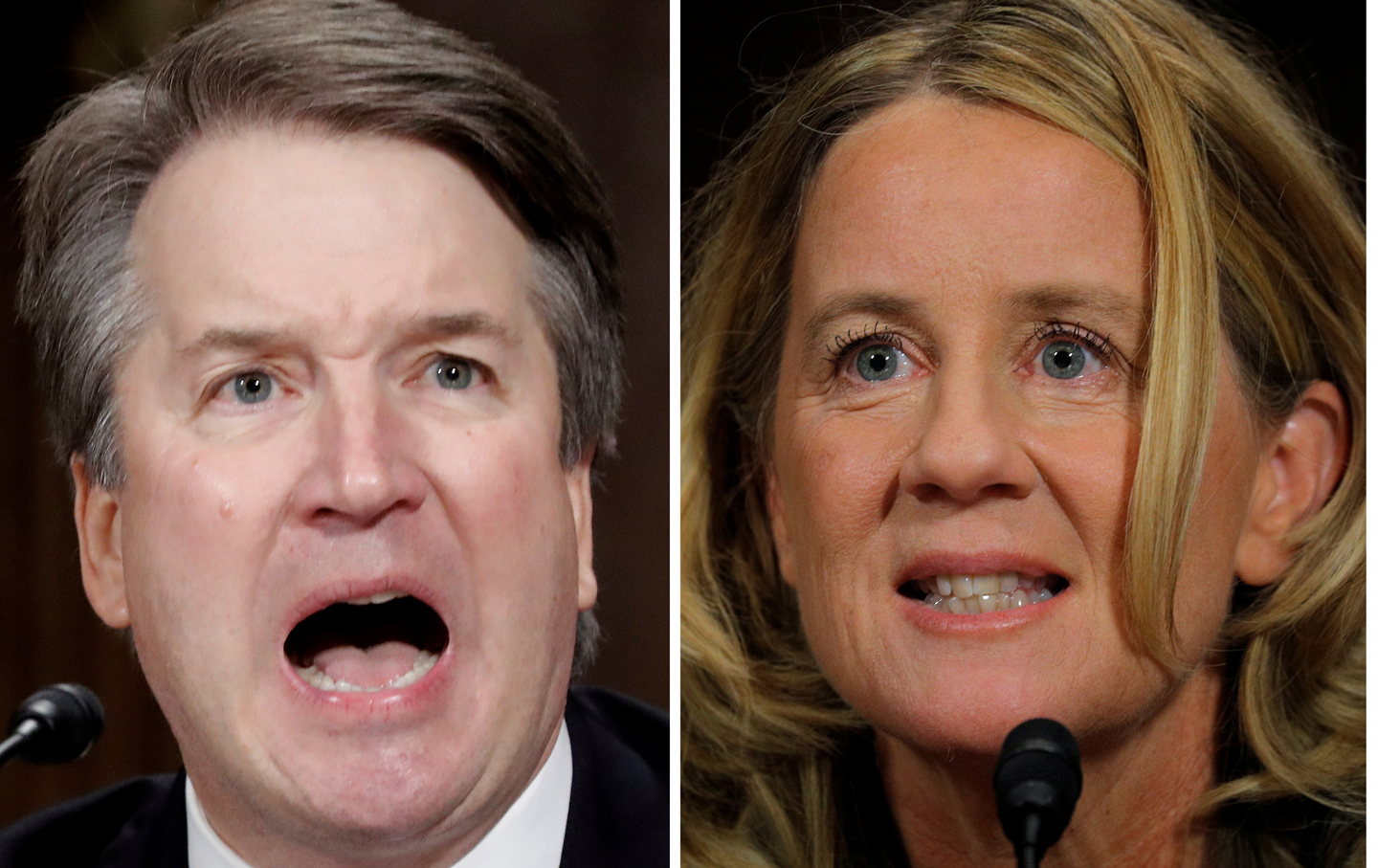 U.S. Supreme Court nominee Brett Kavanaugh and Professor Christine Blasey Ford during Senate Judiciary Committee hearing in Washington