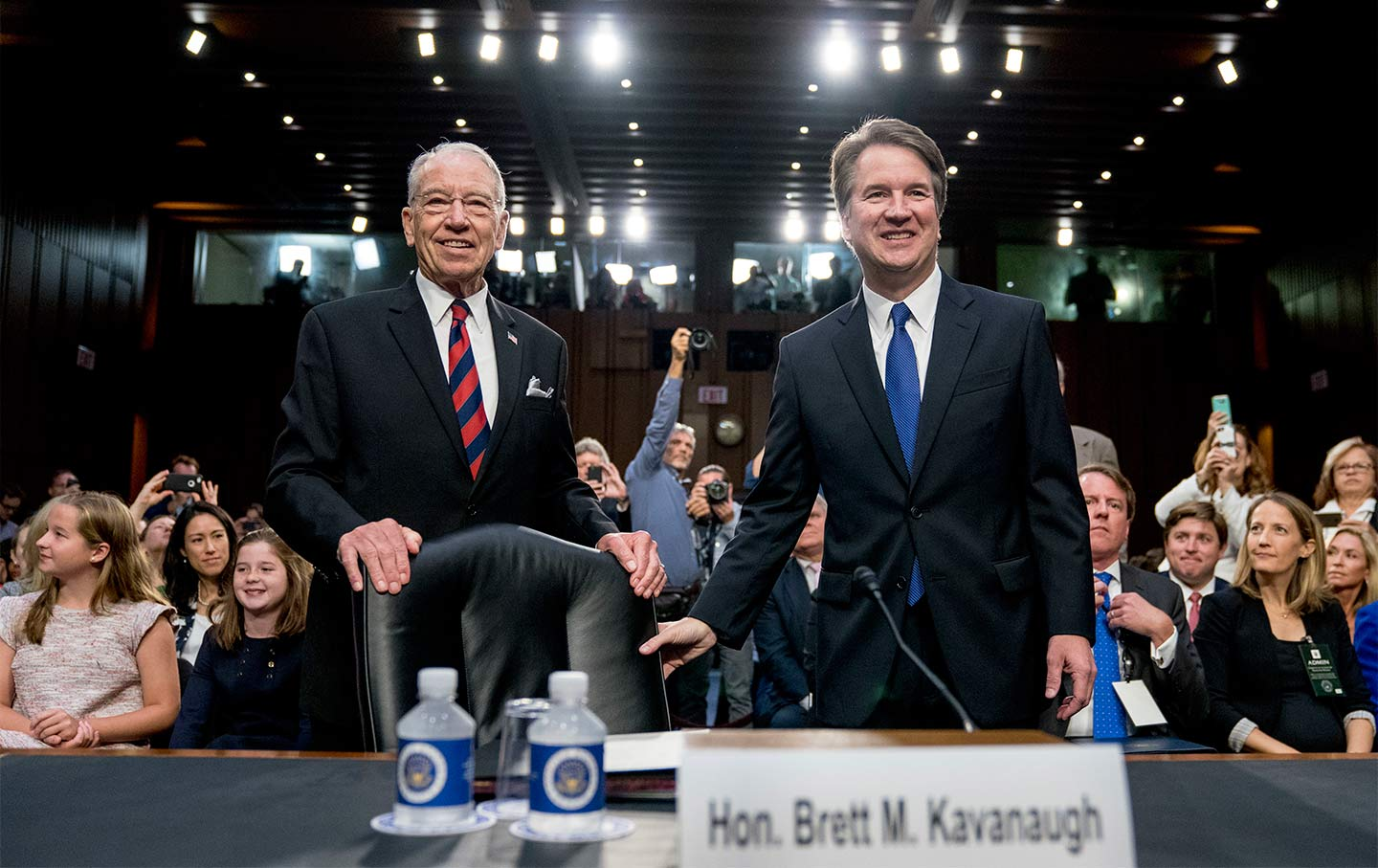 Grassley and Kavanaugh first day of hearing
