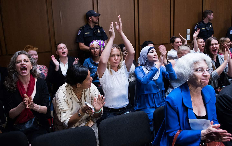 Kavanaugh hearing protests