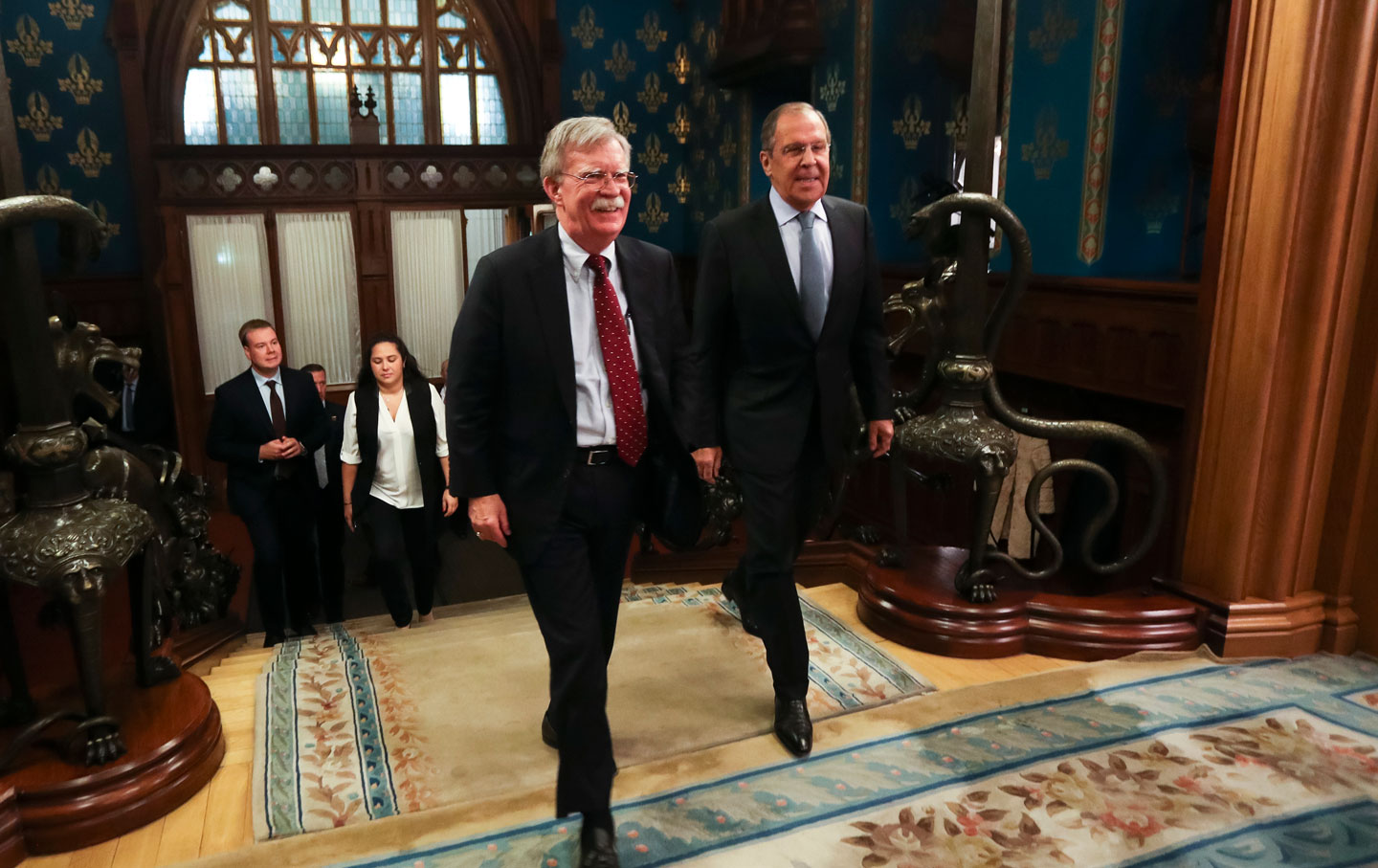 US National Security Adviser John Bolton and Russian Foreign Minister Sergey Lavrov