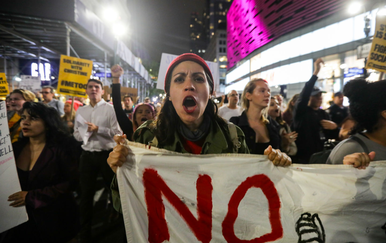 Activists march in opposition to Brett Kavanaugh