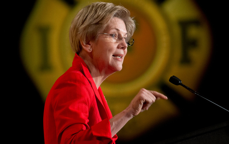 Elizabeth Warren speaking