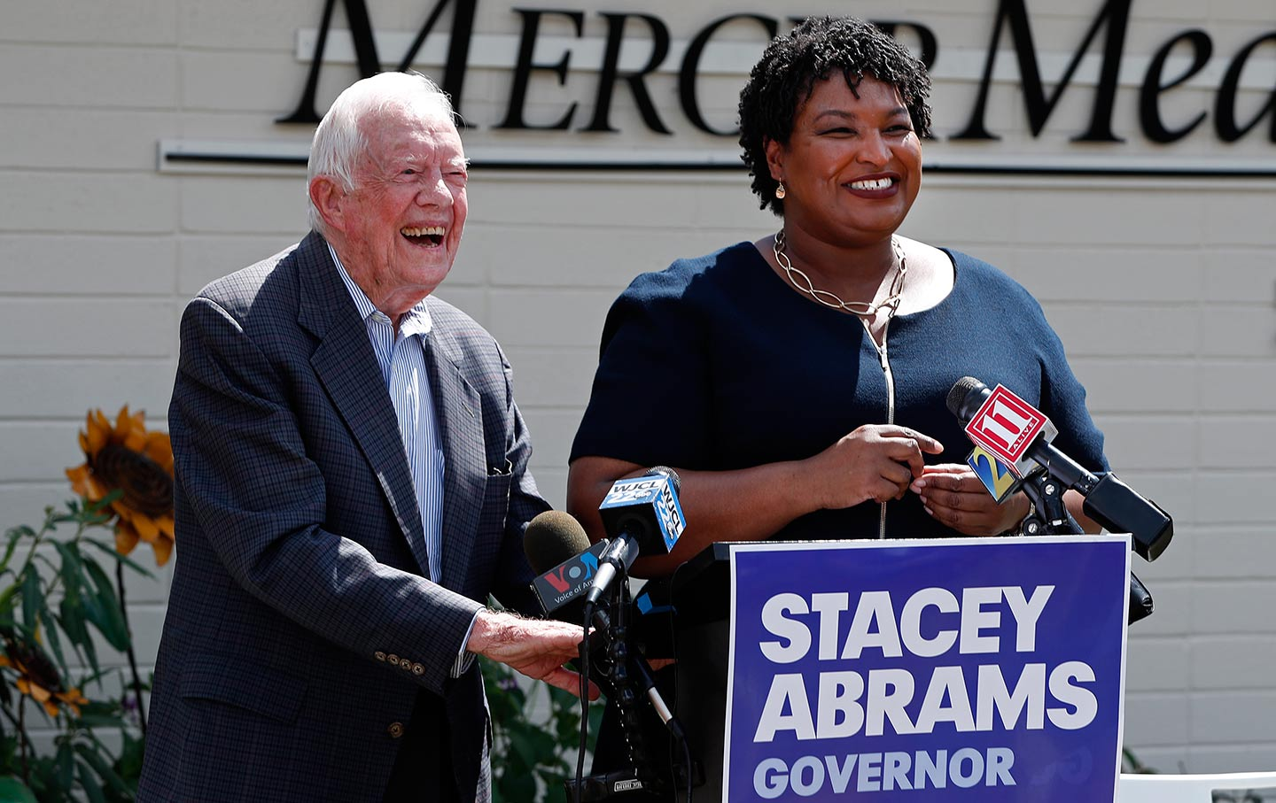 JImmy Carter and Stacey Abrams