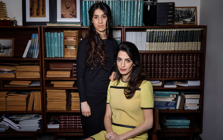 Nadia Murad and Amal Clooney
