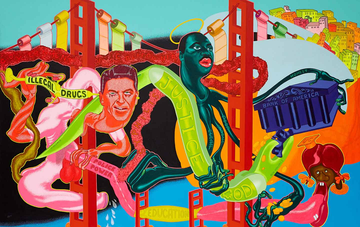 Peter Saul painting