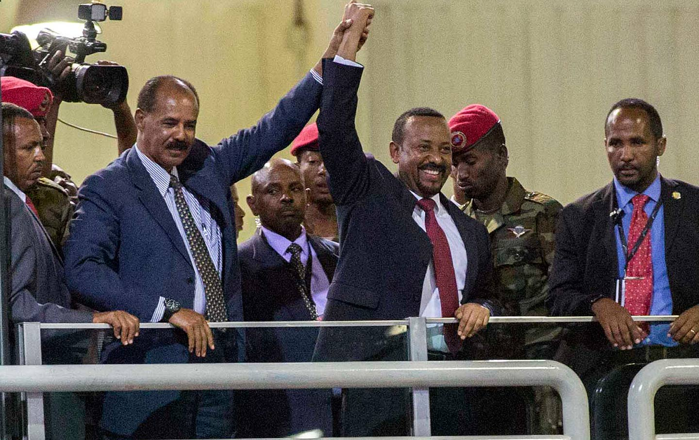 Ethiopian and Eritrean Presidents