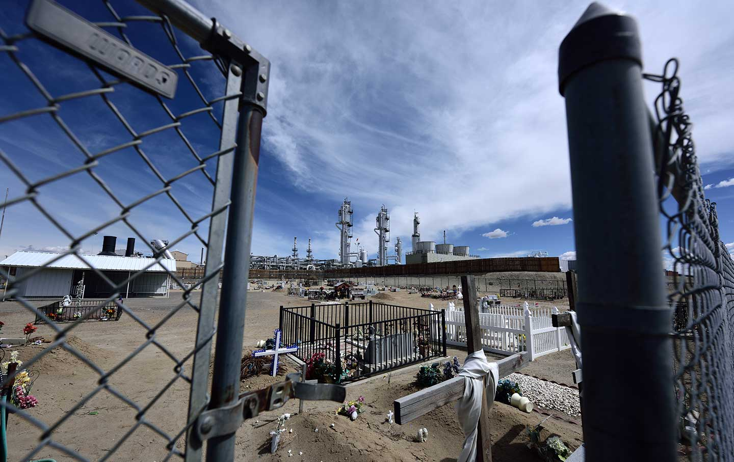 san juan gas plant and cemetery