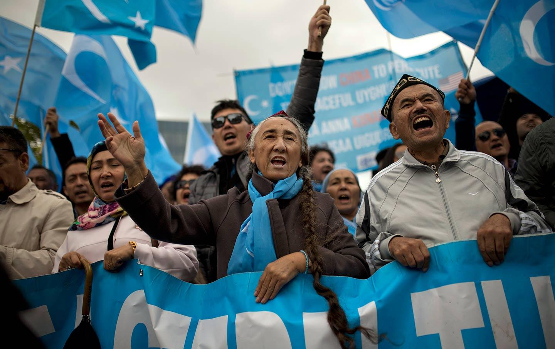 Uyghur Protest Belgium