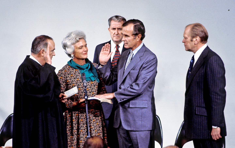 George H.W. Bush CIA Swearing