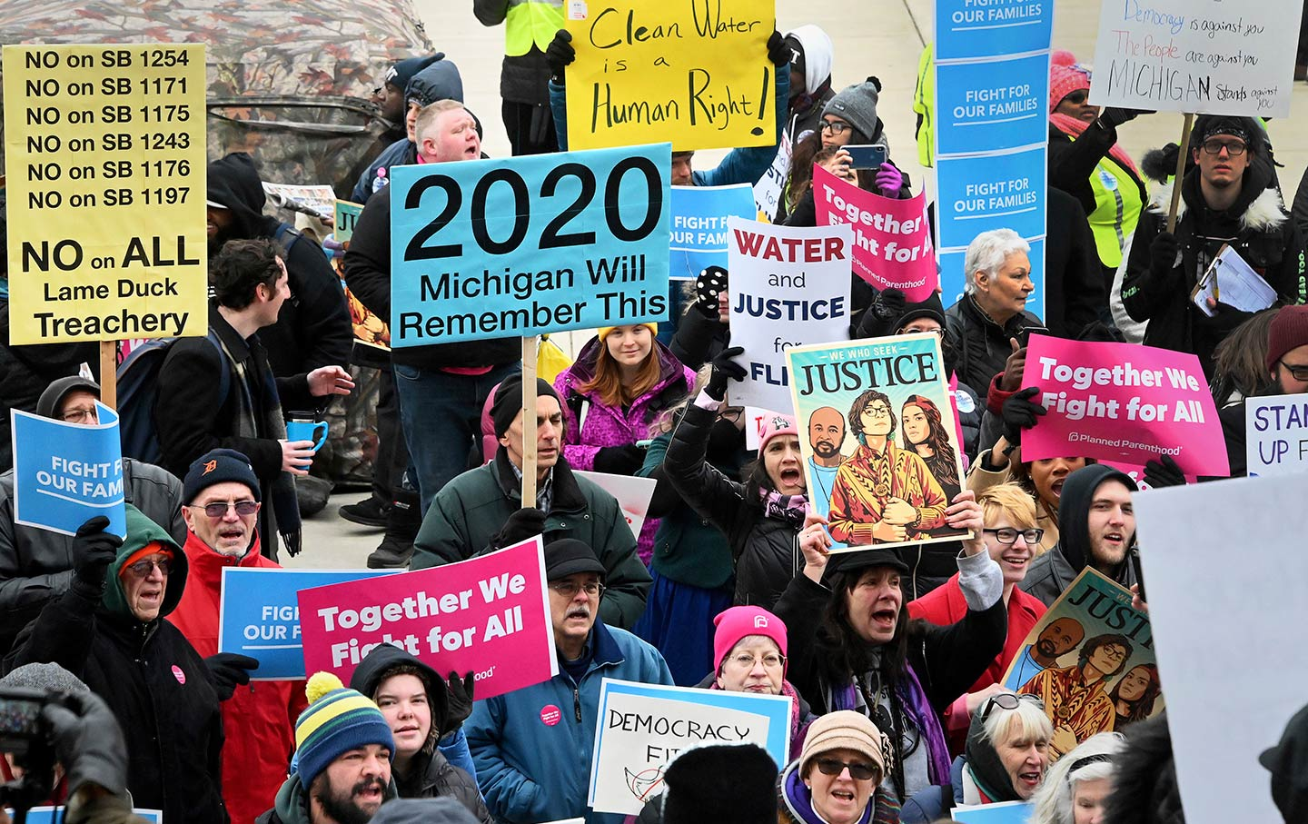 Michigan lame duck protests