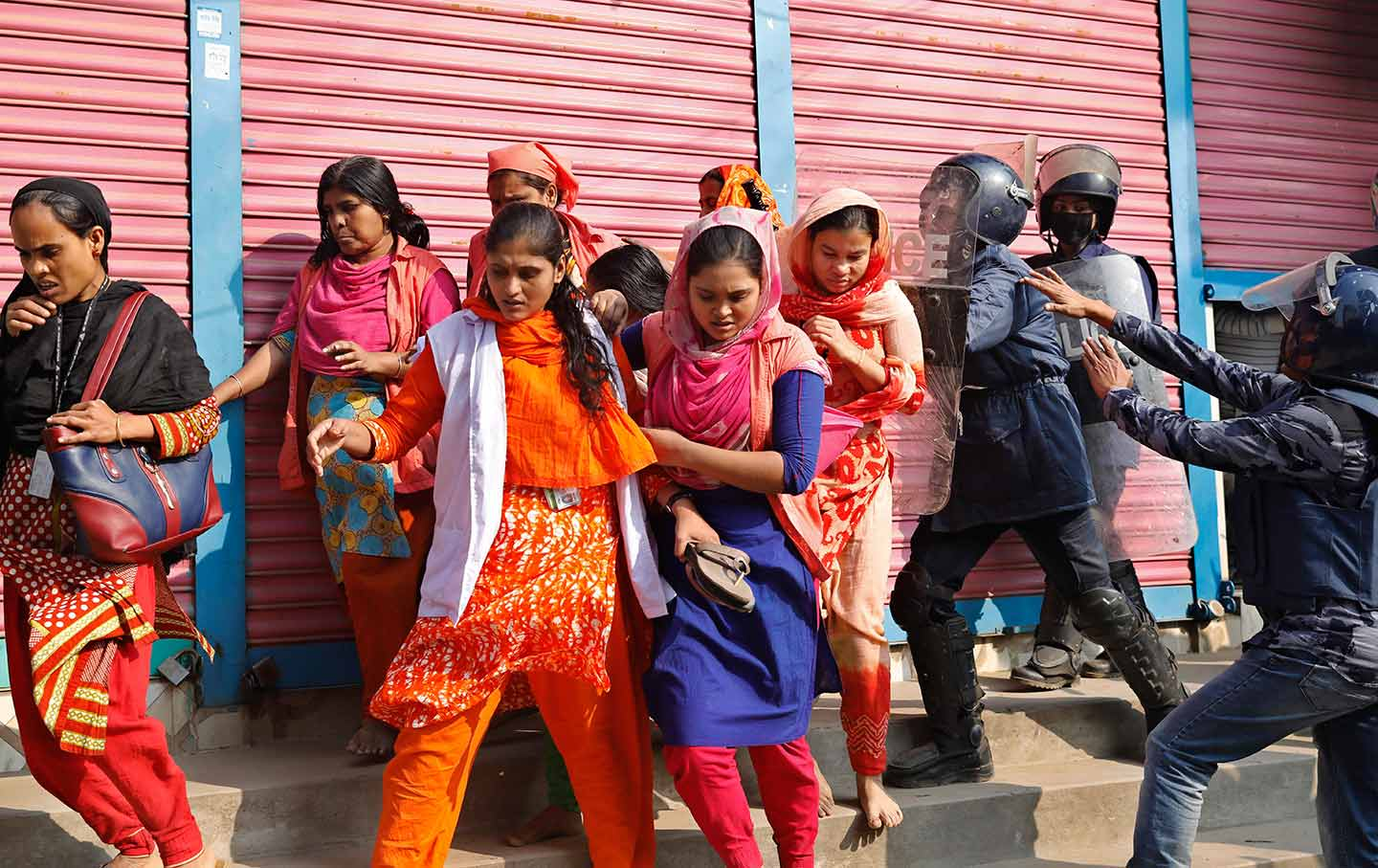 Bangladesh garment workers protest