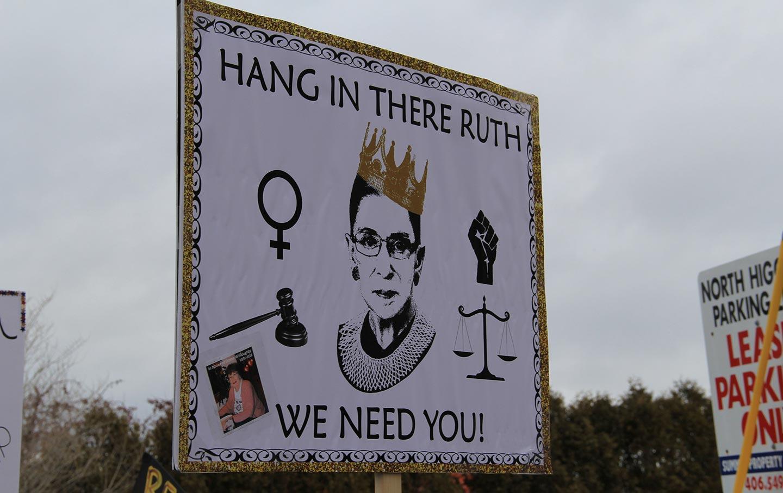 Sign of Ruth Bader Ginsburg