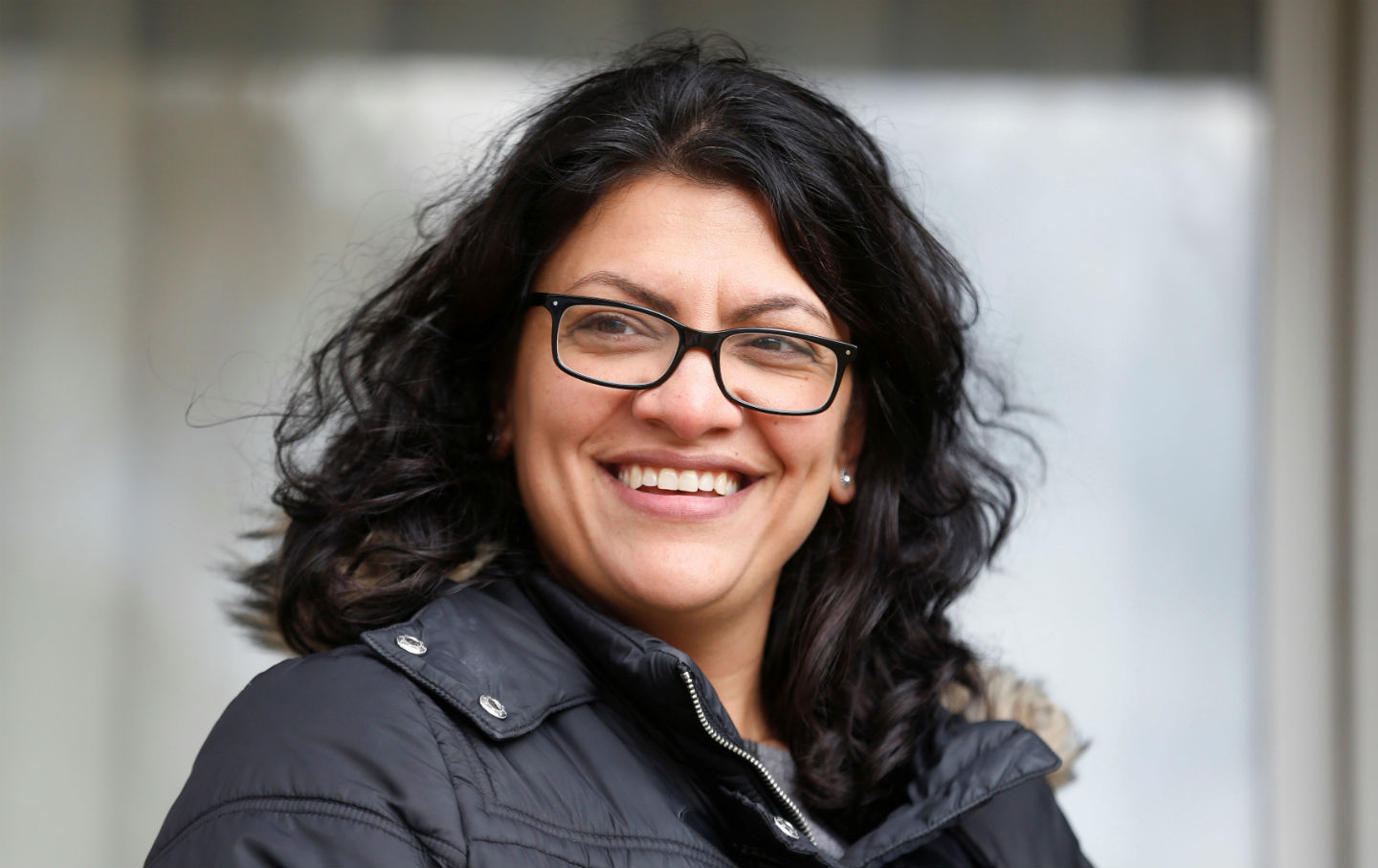 Rashida Tlaib canvasses a neighborhood