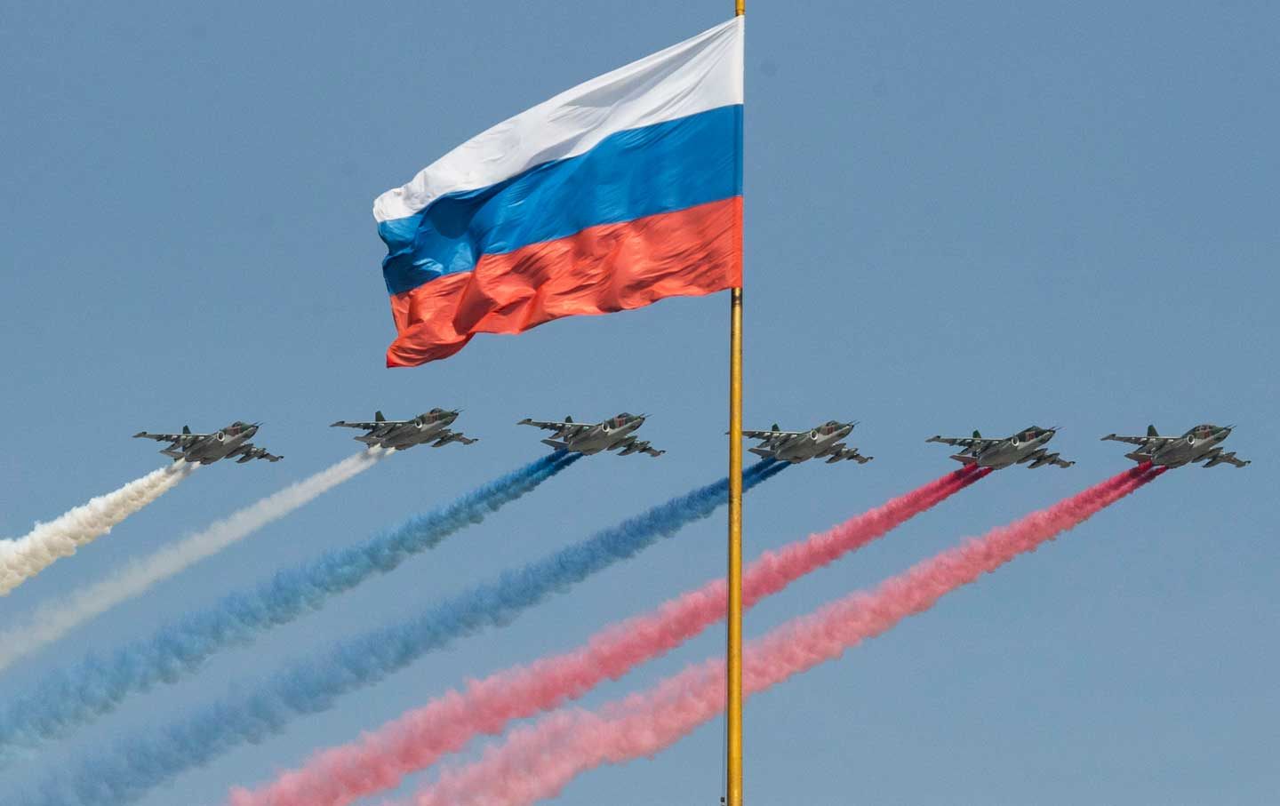 Russian Jets and Flags