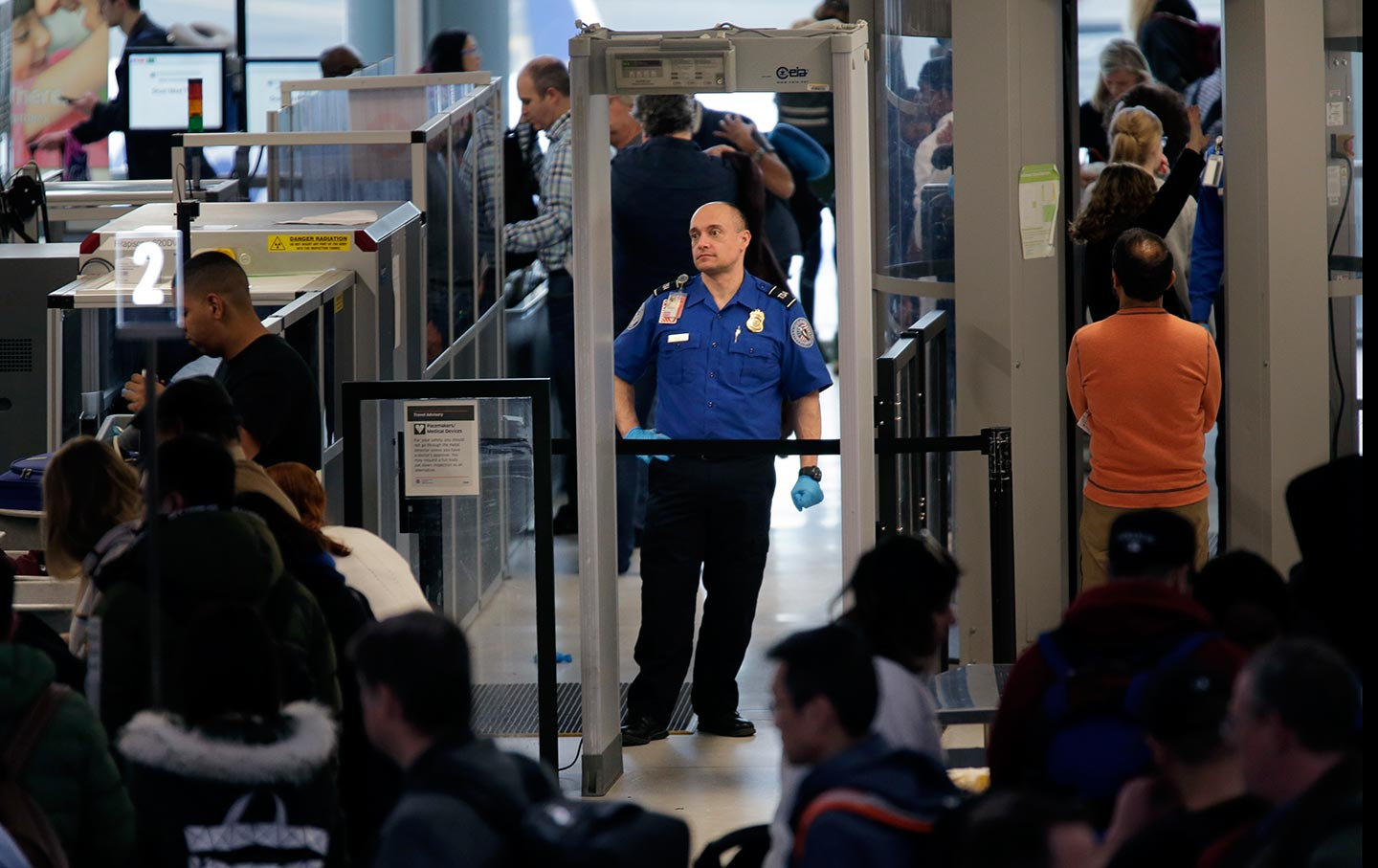 TSA agent during the government shutdown