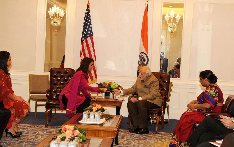 Tulsi Gabbard with Modi