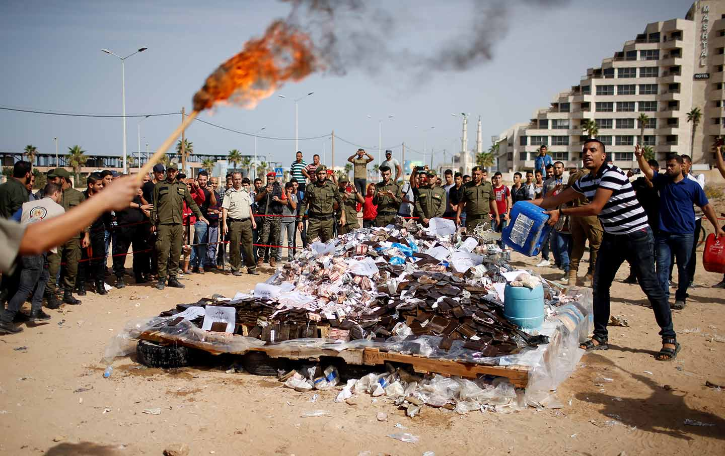 Gaza Drugs Burn