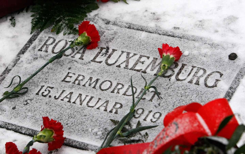 Rosa Luxemburg grave in Berlin