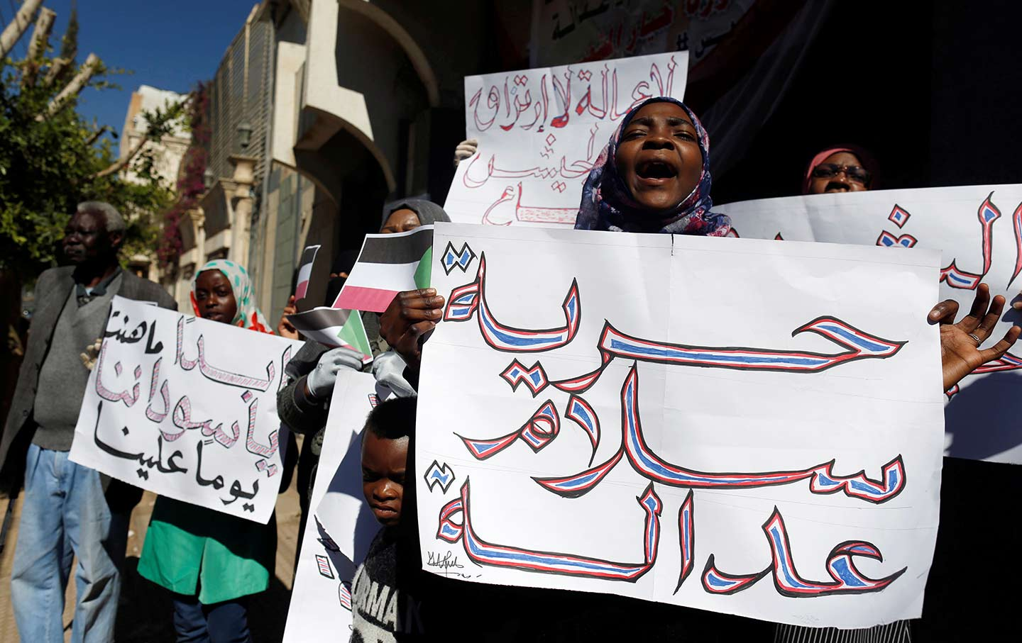 Sudanese Women Protesting