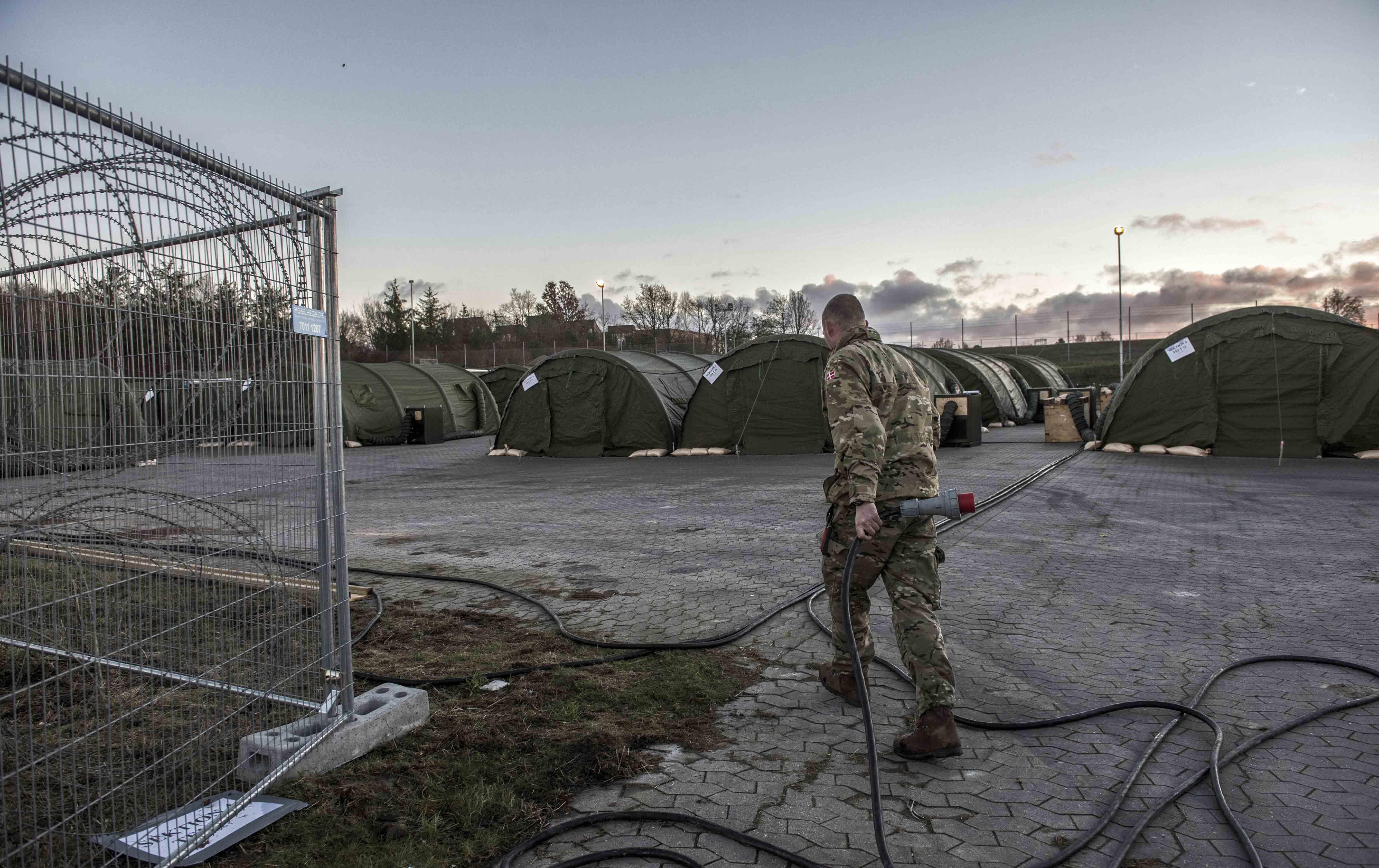 Migrant camp in Vordingborg