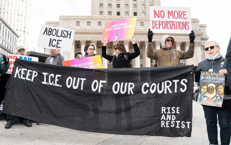 Anti-ICE Rally NYC