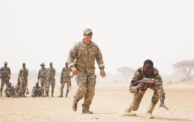 U.S. Army training Nigerien soliders