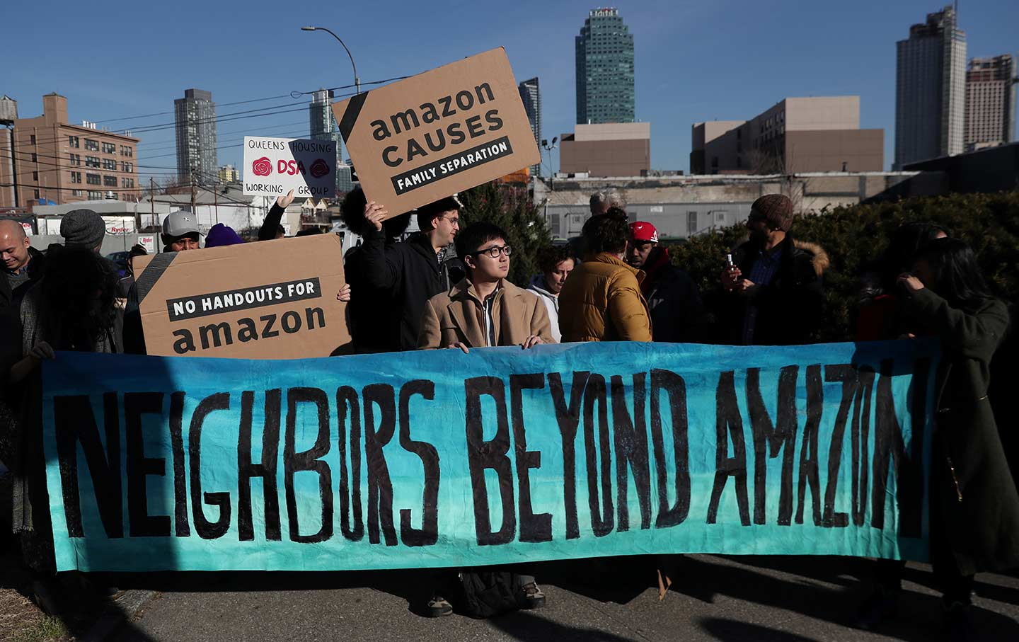Amazon HQ2 Protest
